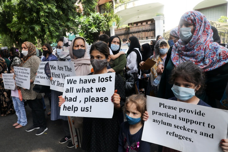 As hopes of return dim, Afghans in India demand refugee status   Refugees News   Al Jazeera