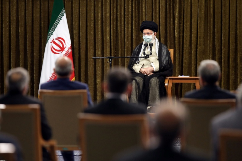 The supreme leader's remarks came during his first visit with President Ebrahim Raisi's cabinet, which gained a sweeping vote of confidence by the country's hardline parliament on Wednesday [Khamenei website via Reuters]