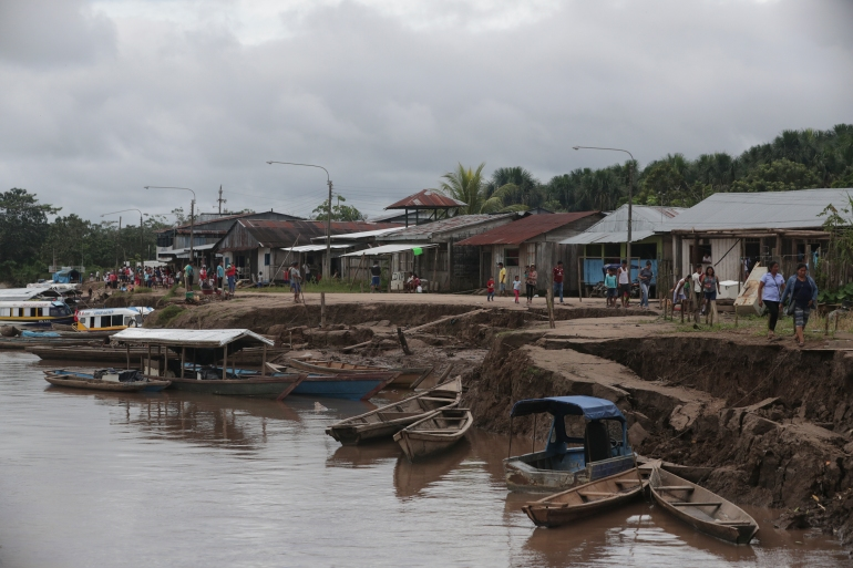 The passenger boat was returning to the city of Yurimaguas in Peru [File: Guadalupe Pardo/Pool via AP]