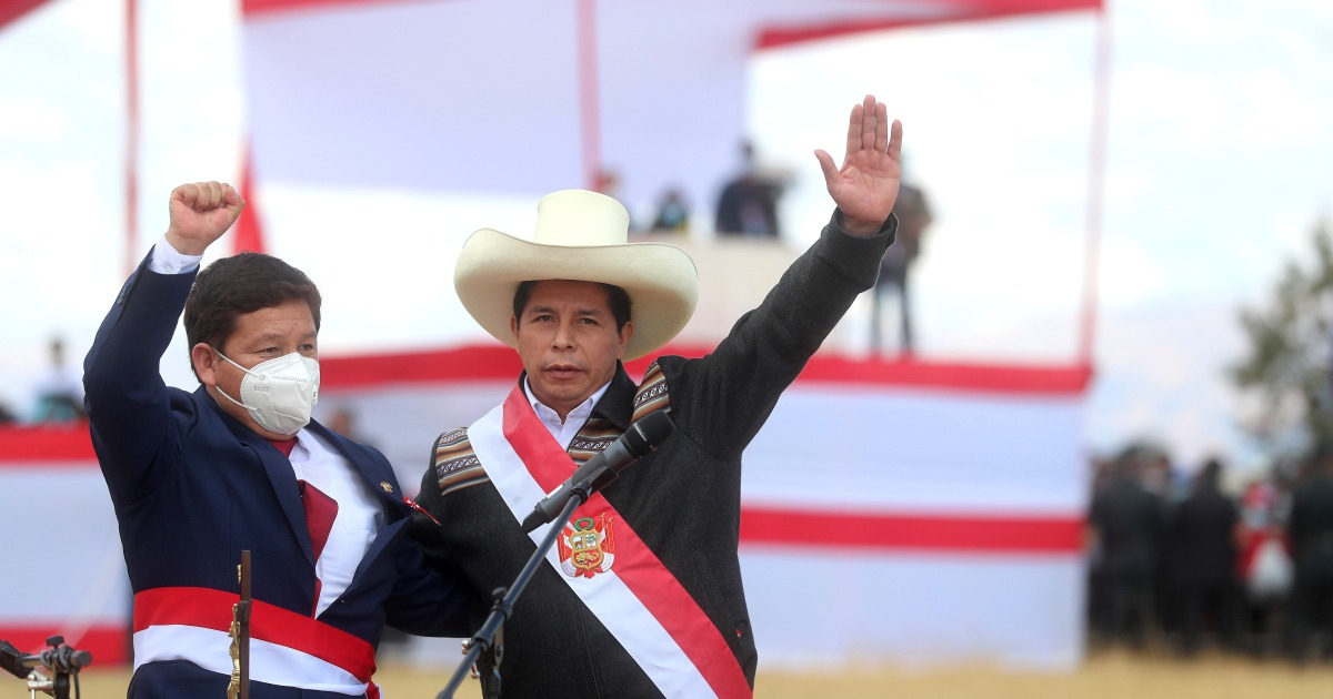 Peru protesters rally against Pedro Castillo's new government thumbnail
