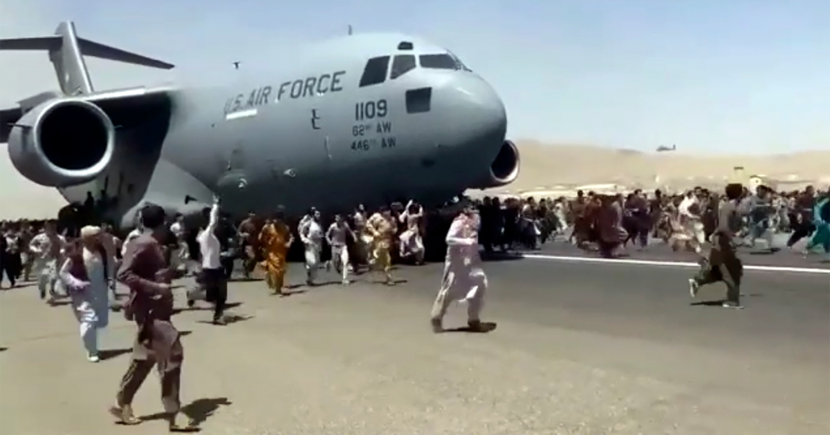 Afghan footballer fell to death from US plane