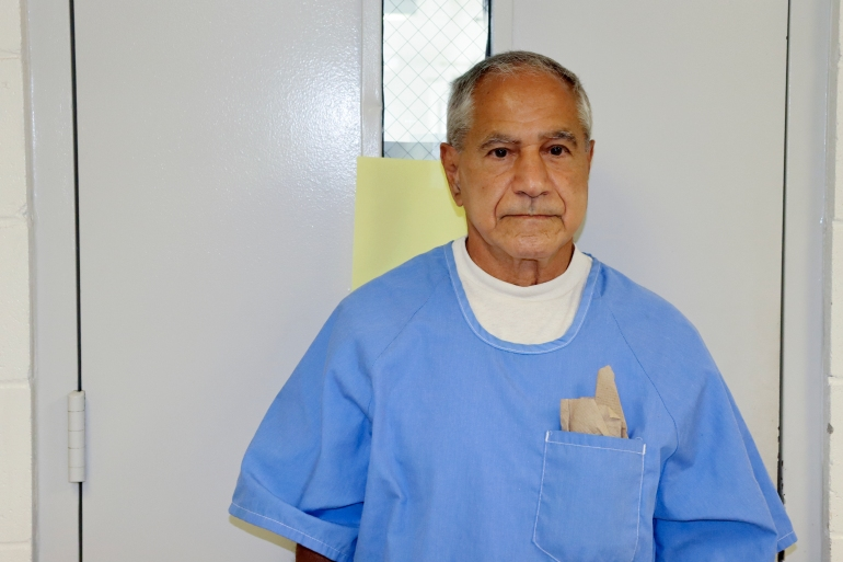 Sirhan Sirhan arrives for a parole hearing Friday, August 27, 2021, in San Diego [California Department of Corrections and Rehabilitation via AP]