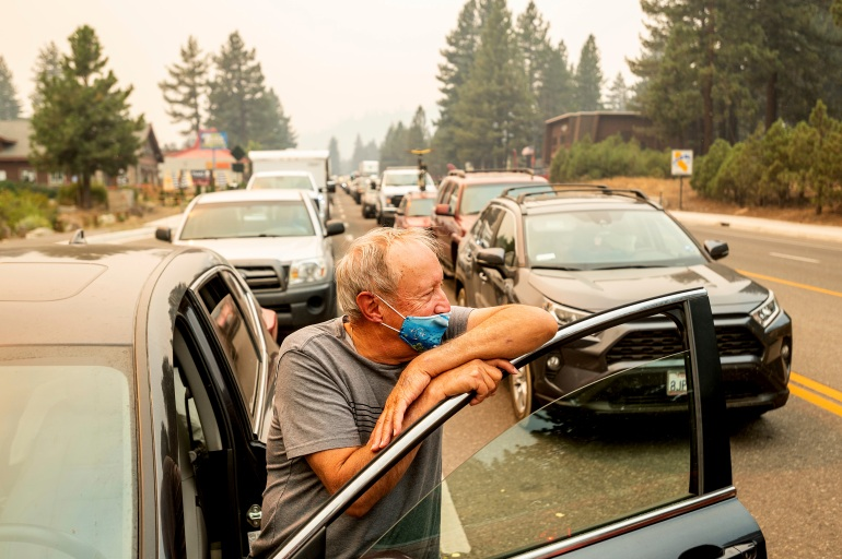 Residents scramble to evacuate as wildfire approaches Lake Tahoe | Climate News