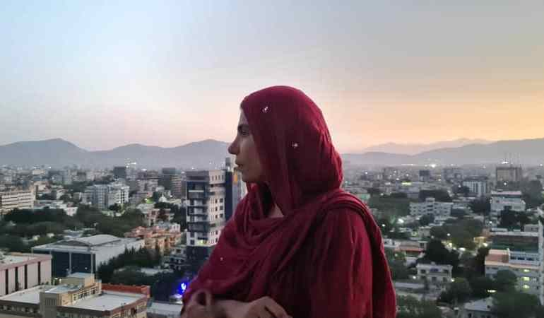 On a rooftop in Kabul on August 21, Nadima is determined to not leave and make the best of what the city has to offer [Photo courtesy of Nadima]