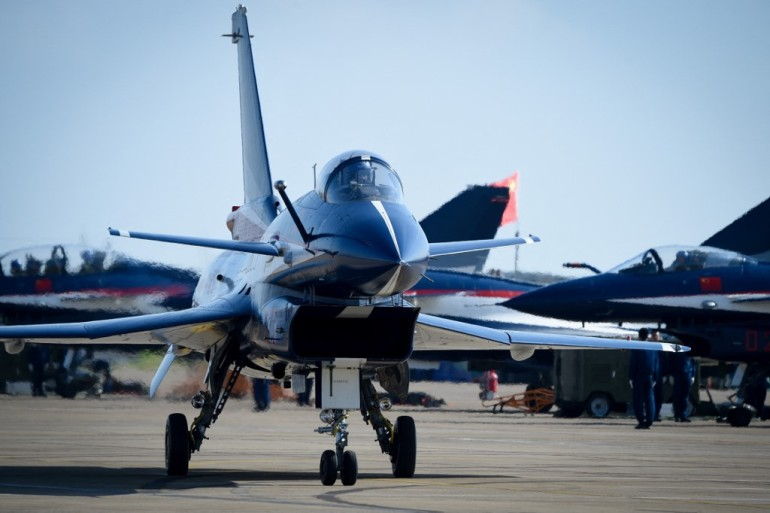 Taiwan said 10 Chinese aircraft entered its air defence zone on Friday [File: Wang Zhao/AFP]