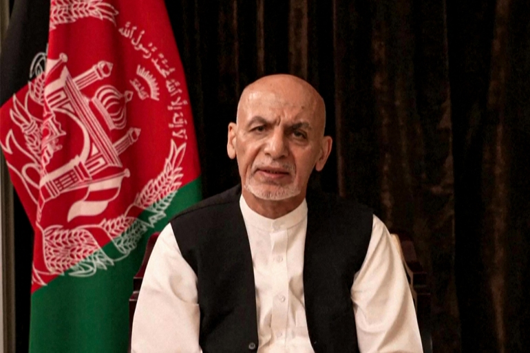 Ashraf Ghani: 'Leaving Kabul was the most difficult decision of my life' [File: Screengrab via Facebook /AFP]