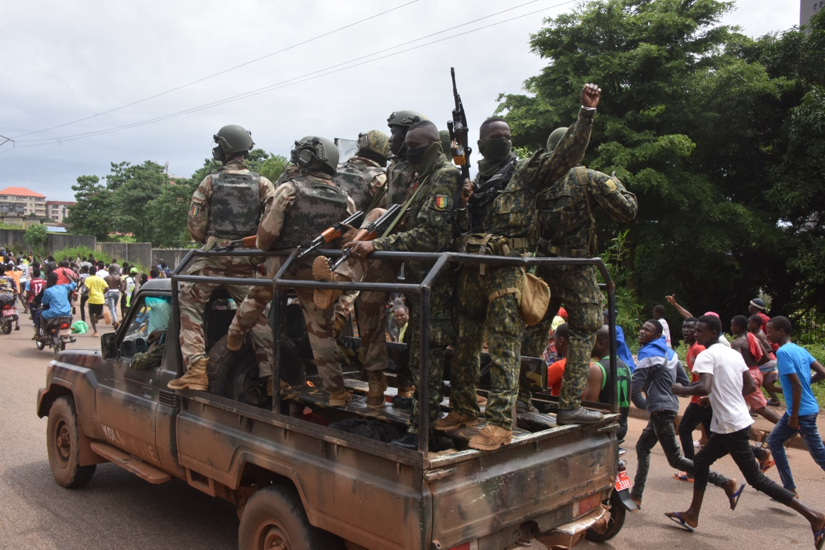 The coup leaders announced plans to replace Guinea's governors with regional military commanders. [Cellou Binani/AFP]