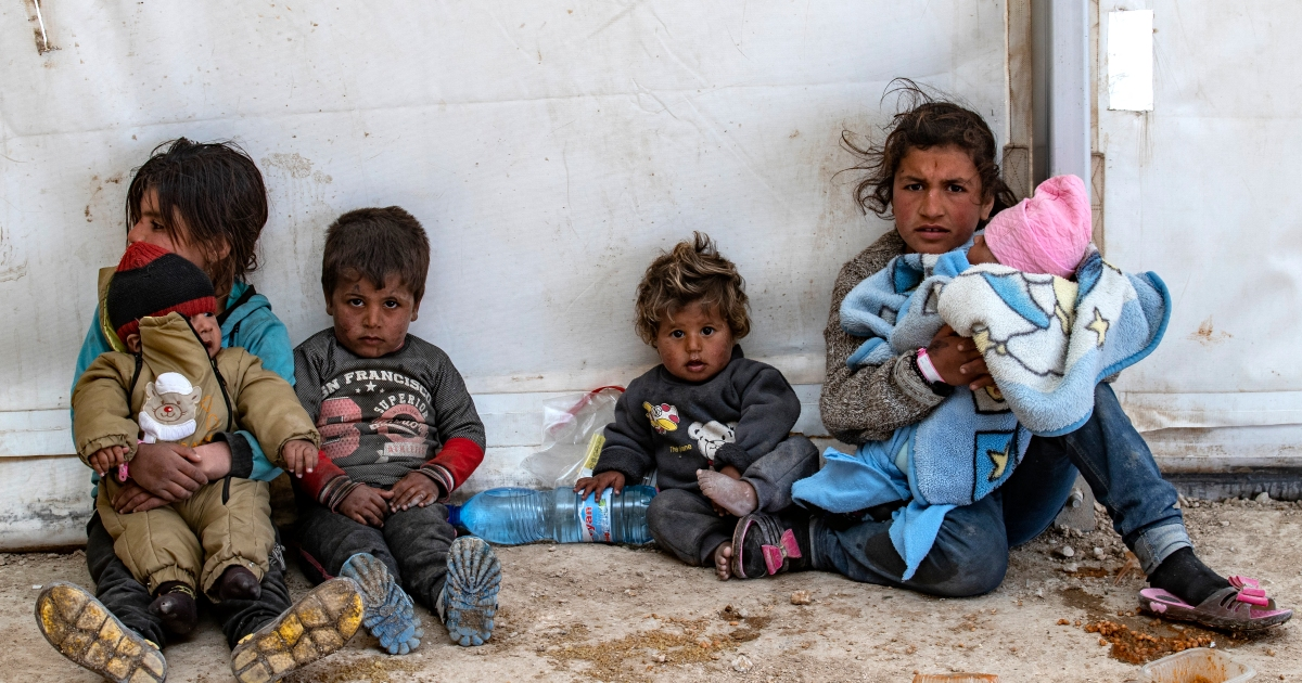 Children 'wasting away' in dangerous Syrian camps, NGO says
