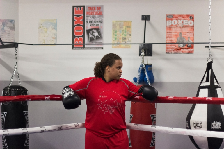 Miriam Silva started boxing when she was eight but left to try other sports. But in 2018, she was back [Helena Lins/Al Jazeera]