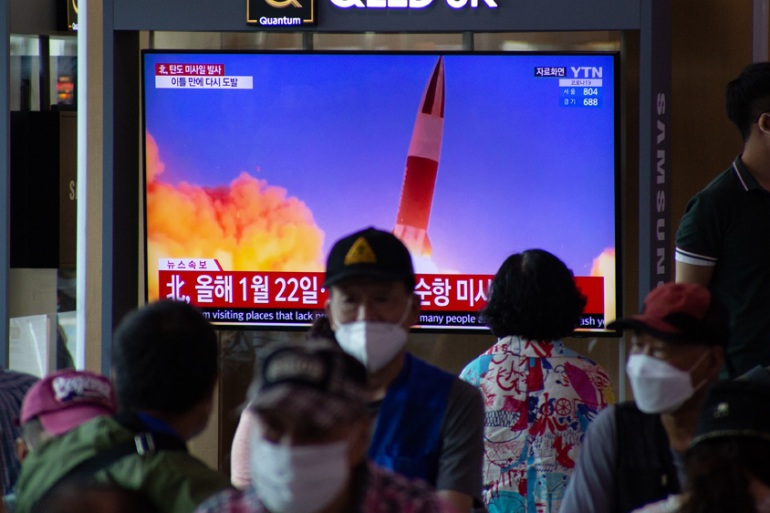 North Korea, which celebrated the anniversary of its founding earlier this week, is thought to have tested a pair of ballistic missiles in contravention of sanctions [File: Jeon Heon-Kyun/EPA]