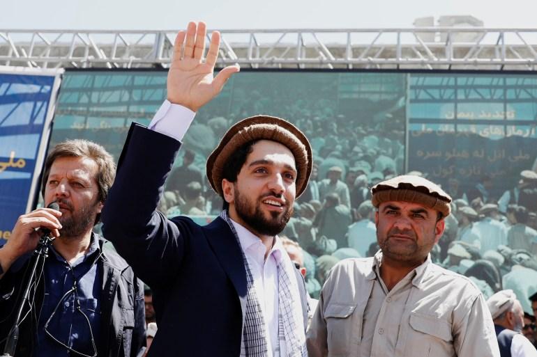 Ahmad Massoud diz que acolhe os apelos para o fim negociado dos combates em Panjshir [File: Mohammad Ismail/Reuters]