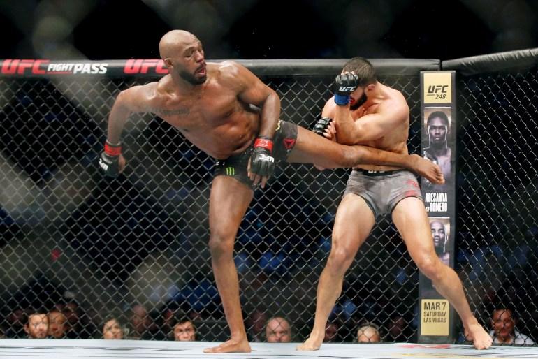 UFC's Jon Jones arrested for domestic violence, vehicle damage | US & Canada News | Al Jazeera