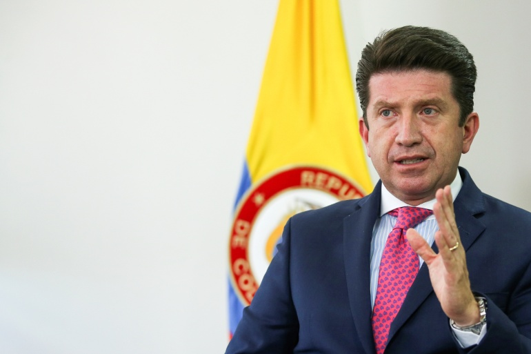 Colombia's Defence Minister Diego Molano described Angel Padilla Romero, known as Fabian, as 'the most important leader of the ELN still in Colombia' [File: Luisa Gonzalez/Reuters]