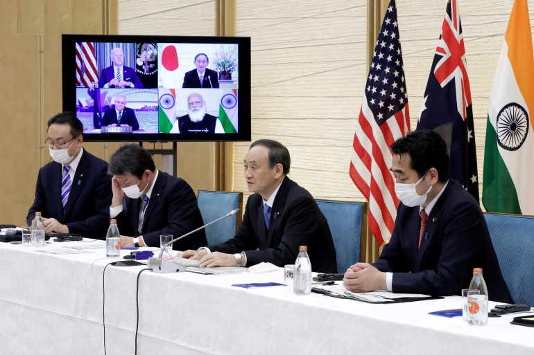 The so-called 'Quad' grouping will hold its first in-person leaders meeting on Friday [File: Kiyoshi Ota/Reuters]