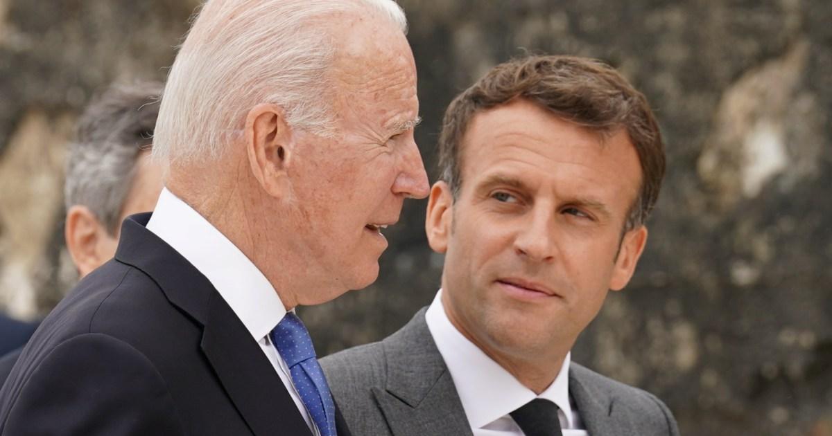 Biden dan Macron memenuhi untuk bertemu bulan berikutnya dalam dorongan untuk memperbaiki relasi thumbnail