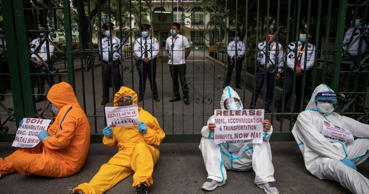 , Filipino health workers protest neglect as Delta variant surges, The World Live Breaking News Coverage & Updates IN ENGLISH