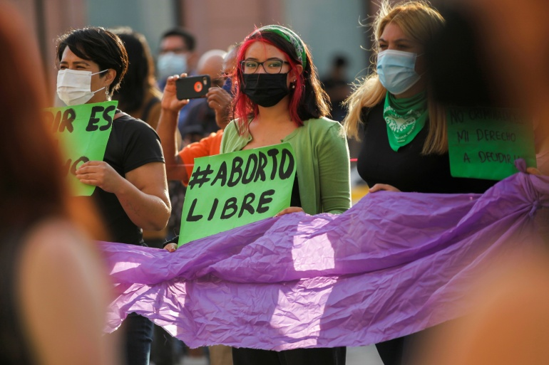 The Mexican court's decision on Tuesday follows moves to decriminalise abortion at the state level, although most of the country still has tough laws in place against women terminating their pregnancy early [Daniel Becerril/Reuters]