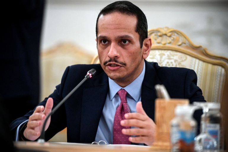 Qatari Foreign Minister Sheikh Mohammed bin Abdulrahman Al Thani visited Kabul and met a number of officials in the Taliban's new government [File: Alexander Nemenov/Reuters]