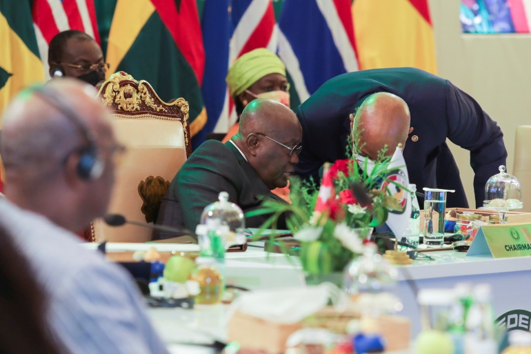 The move on Thursday was agreed at an emergency summit of the Economic Community of West African States in Accra [Kweku Obeng/Reuters]