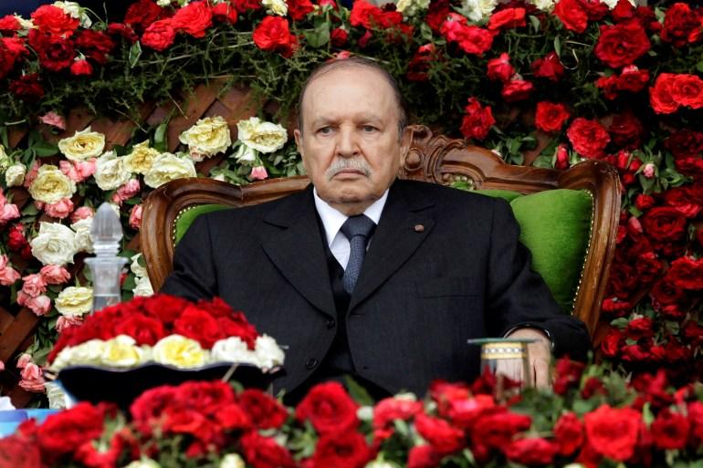 Bouteflika, da Argélia, foi forçado a renunciar em 2019, após semanas de protestos contra sua decisão de concorrer a um quinto mandato, apesar de sua saúde debilitada [File: Ramzi Boudina/Reuters]