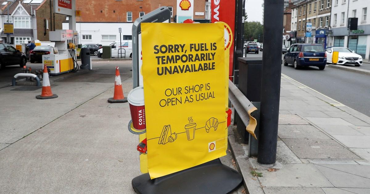 'Up to 90 percent' of UK petrol pumps dry amid panic buying - Al Jazeera English