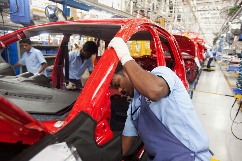 Montadoras estrangeiras como a Ford encontraram dificuldades para se firmar no mercado indiano preocupado com o valor, dominado pelos carros baratos da Maruti Suzuki India Ltd [File: Prashanth Vishwanathan/Bloomberg]
