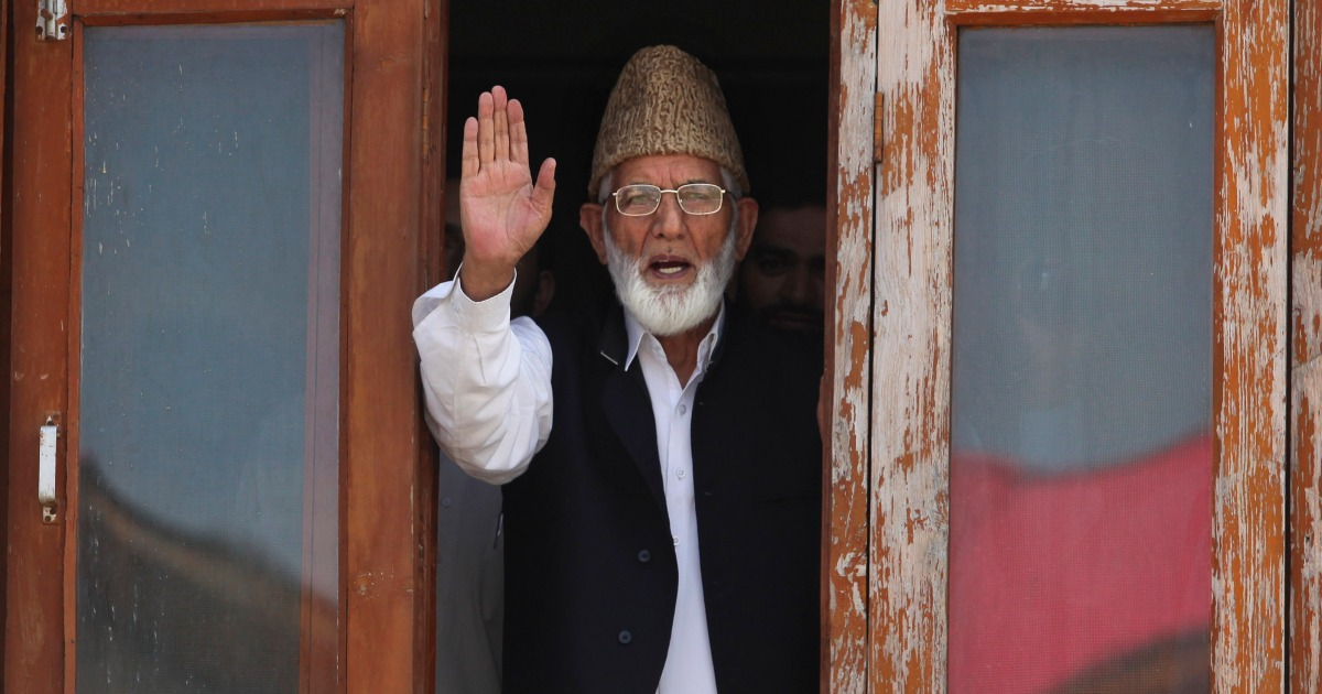 , Syed Ali Shah Geelani: Kashmir separatist leader dies at 92, The World Live Breaking News Coverage & Updates IN ENGLISH
