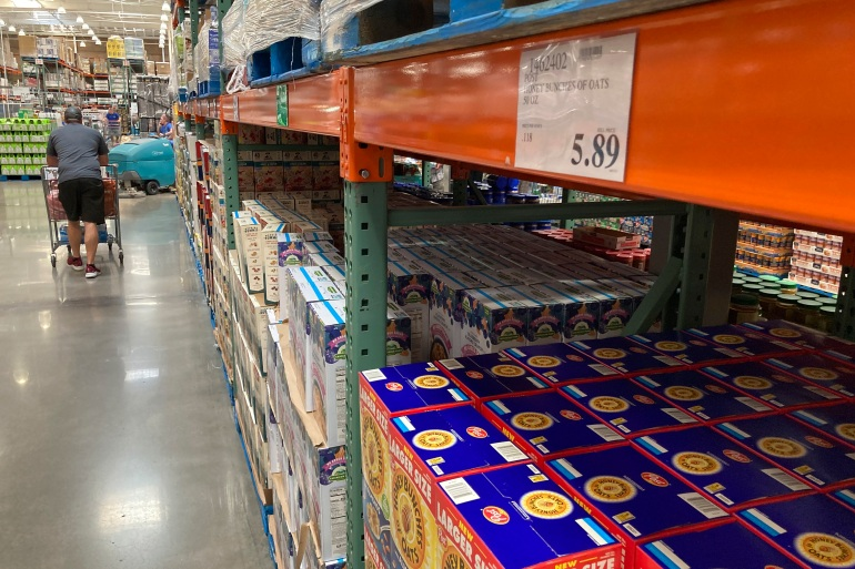 Inflation has become a hallmark of the US economic recovery from COVID-19, as businesses ramp up operations en masse, triggering bottlenecks in the supplies of raw materials and labour [File: David Zalubowski/AP]
