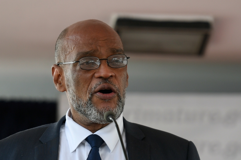 Haiti Prime Minister Ariel Henry, pictured, has replaced the country's justice minister as the country's political crisis grows [File: Matias Delacroix/The Associated Press]