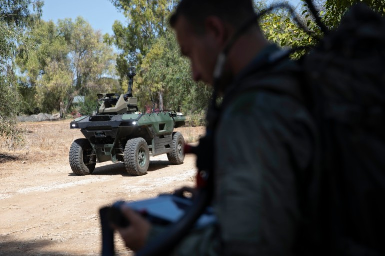 , Israeli firm introduces armed combat drone to patrol borders,