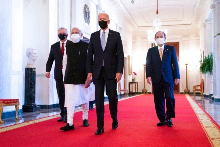 Quad leaders discuss 'key challenges' at White House summit   Coronavirus  pandemic News   Al Jazeera