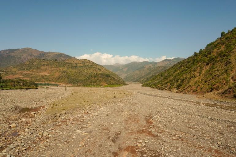 An overview of Ujh river that flows through Kathua district, Indian-administered Kashmir [Al Jazeera]