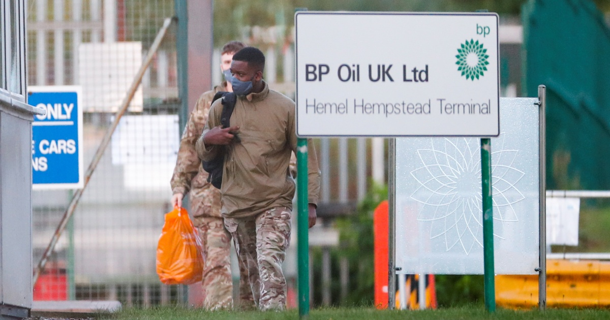 , UK military deployed to deliver fuel as supply crisis continues, The World Live Breaking News Coverage & Updates IN ENGLISH
