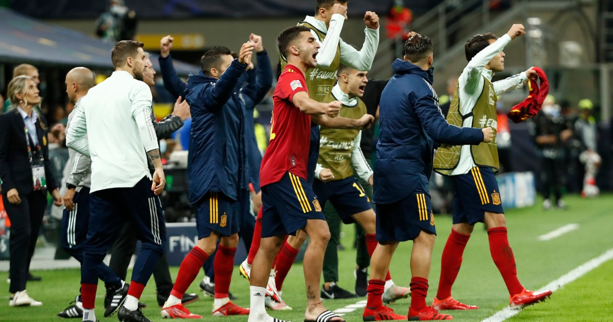 Spain ends Italy's unbeaten run to succeed in Nations League remaining thumbnail