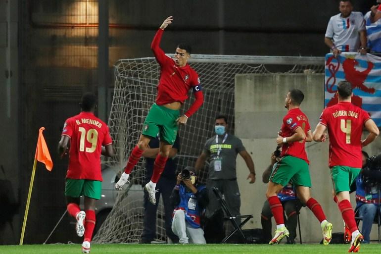 Ronaldo scores hat-trick, Denmark secure place in Qatar World Cup    Football News   Al Jazeera