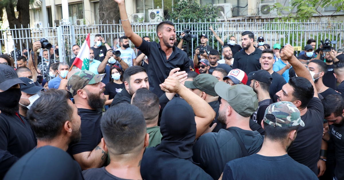 At least 1 killed, several wounded in gunfire near Beirut protest