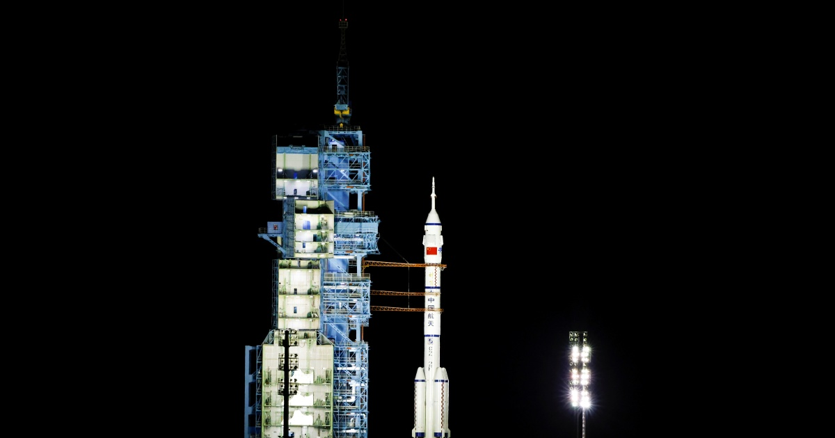 China launches astronaut crew on six-month space station mission